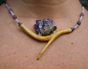 Sfraga Saga Amethyst Statement Piece Necklace